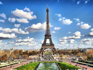 Photo Parijs, Frankrijk, Eiffeltoren, City, foto hd achtergronden voor je desktop